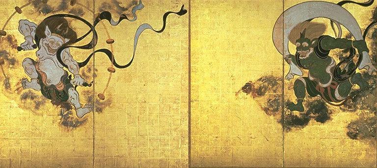 俵屋宗逹画/風神雷神図(建仁寺蔵)